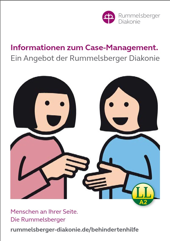 Titel vom Flyer Casemanagement